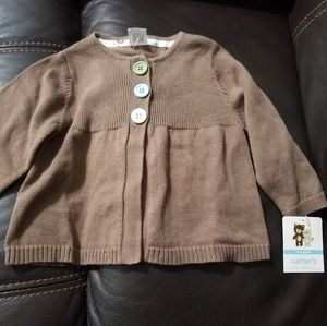 Carter's cardigan for baby girl size 6 months